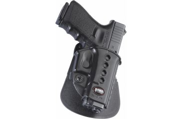 Fobus Glock 17, 19, 22, 23, 31, 32, 34, 35, Walther PK380 Holster, Black, Left Hand, Roto-Belt GL2E2RBL