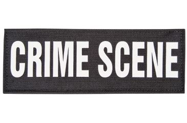 Forensics Source Crime Scene Patch ID, Black, Small CSPATCH-S-BLK