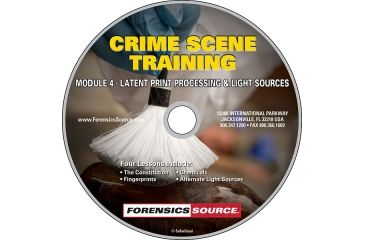 Forensics Source Crime Scene Training Module DVD- 4, Latent Print Processing & Light Sources 1150485