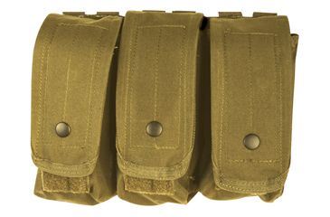 Fox Outdoor AR-15/AK-47 Triple Mag Pouch, Coyote 099598570385