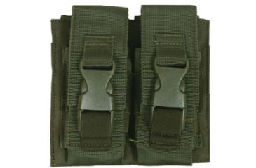 Fox Outdoor Flash Bang Pouch - Double, Olive Drab 099598578022