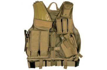 Fox Outdoor MACH-1 Tactical Vest, Coyote 099598652784