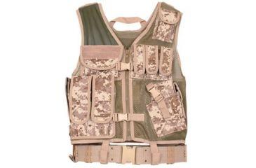 Fox Outdoor MACH-1 Tactical Vest, Digital Desert 099598652722