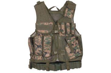 Fox Outdoor MACH-1 Tactical Vest, Digital Woodland 099598652739