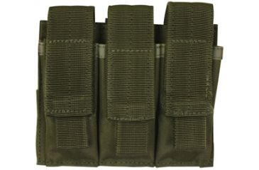 Fox Outdoor Triple Pistol Mag Pouch, Olive Drab 099598575304