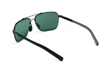 Maui Jim Freight Trains Sunglasses w/ Gunmetal w/ Black Tips Frame and Neutral Grey Lenses - 326-02, Back View