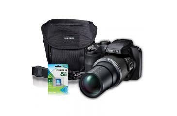 Fujifilm FinePix S9400W 16MP Digital Camera, Black, Bundle-Gadget Bag, 8GB Memory Card, Batteries 600013636