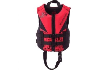 Full Throttle Children's Flex-Back Vest, for Children, Polyester, Spandex, Red, Black 1461RED99