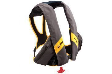 Full Throttle Manual Inflatable Life Jacket, Universal Size for Adult, Nylon, Yellow, Carbon 3300CBN99