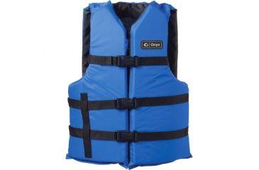 Full Throttle Universal General Purpose Life Vest, L,3XL Size for Adult, Nylon, Foam, Black, Blue 35800132