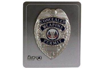 Fury Concealed Weapons Permit Badge, Silver FP16900
