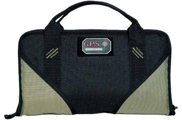 G. Outdoors Products Memory Foam Handgun Case, Green/Black, Large GPS-1485PCMF