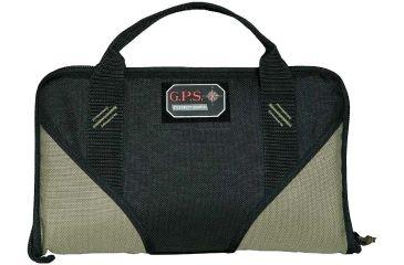 G. Outdoors Products Memory Foam Handgun Case, Green/Black, Medium GPS-1007PCMF