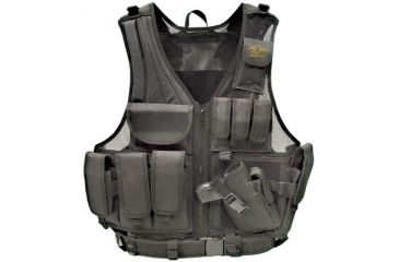 Galati Gear Deluxe Tactical Vest Tactical Black Assorted Sizes Nylon GLV547B