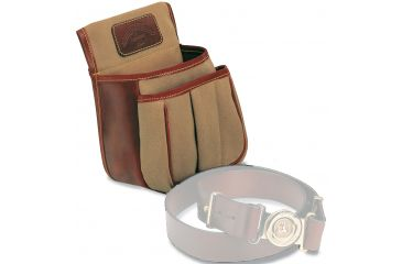 Galco Canvas & Leather Trap & Skeet Pouch, Dark Havana - 25 Count