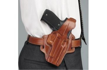 Galco Fletch High Ride Belt Holster, Left Hand, Black, Sig P239 9mm FL297B