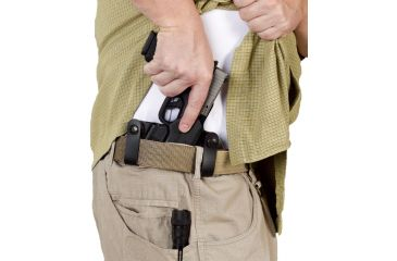 Galco Double Time Holster - Firearm Being Withdrawn