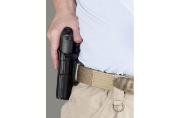 Galco M6X ALH Belt Holster - Front View w/ Firearm Being Withdrawn