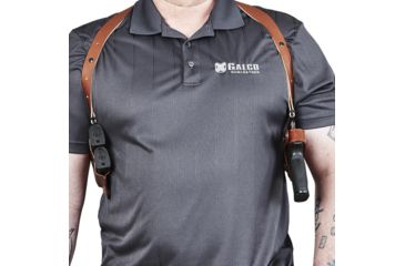 10-Galco Miami Classic II Shoulder Harness System, Leather