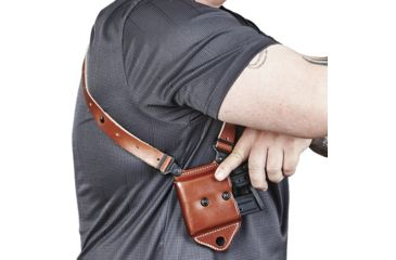 15-Galco Miami Classic II Shoulder Harness System, Leather
