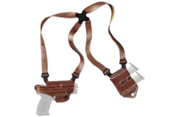 3-Galco Miami Classic II Shoulder Harness System, Leather