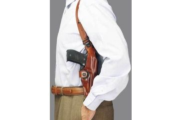 """7-Galco Vertical Ambidextrous Shoulder Holster Component for S&W L Fr 686 4"""""""