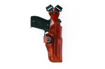 Galco Vertical Shoulder Holster, No Harness - Ambidextrous, Black, Colt 5in 1911 V212B