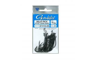 Gamakatsu Superline Offset Shank EWG Worm Hook - Size 2/0 792820
