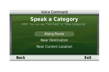 Opplanet Garmin nuvi 2595LMT Voice Command Screen Image