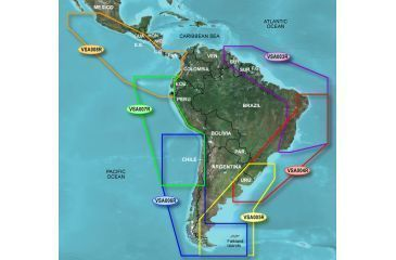 Garmin On The Water GPS Cartography BlueChart g2 Vision: Central & South America Map w/ Free S&H