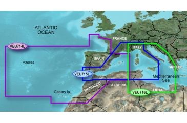 Garmin On The Water GPS Cartography BlueChart g2 Vision: Mediterranean Large Map w/ Free S&H