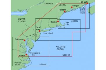 Garmin On The Water GPS Cartography BlueChart: Northeast Coast Large & Extra Large Map w/ Free S&H