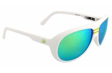 Gatorz Elymwh17mMwh Ely Matte White Frame Multi Layer Green Lens Sunglasses