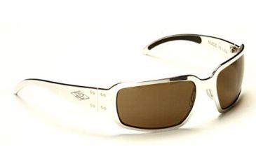 Gatorz Rockstar Sunglasses, Polish Frame, Brown Lens