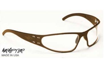 Gatorz Wraptor Sunglasses, Desert Brown Frame, Clear Lens WRADBN06