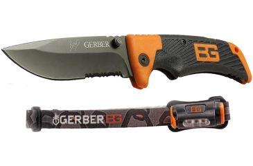 Gerber Bear Grylls Series Scout Clip Folder, Hands Free Torch Combo 105712