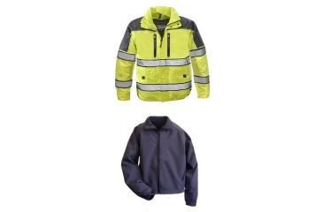 Gerber Outerwear Eclipse SX - Ansi 107 with Soft Shell Liner Jacket, Navy - Lime, SR 70RX1/L SR