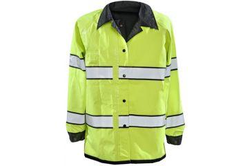 Gerber Outerwear Pro Dry Reversible Rain Jacket - Ansi 107 Class III, Black - Lime, XXXLR 70J3/L XXXLR