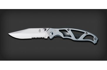 Gerber Paraframe Ii Stainless Serrated Folding Clip Knife