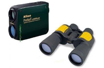 2-PC Nikon and Tasco Gadget Lover Package - Nikon 440 Rangefinder WR Green 8352 and Tasco OffShore 7x50 Marine Waterproof Binoculars OS19