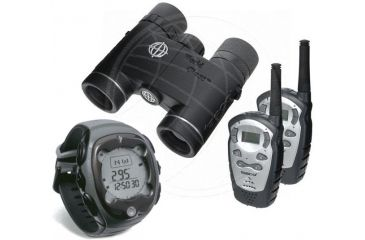 2-PC Travel Companion Gadget Lover Package - Tasco 10x25 WP binoculars WC1025DP, Bushnell DNS Compass 700102