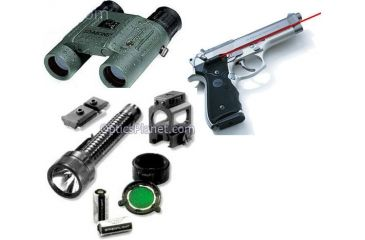 3-PC Accessory Pack for Soldiers - Crimson Trace Lasergrips, Simmons 8X25 Waterproof Binoculars, Streamlight Illumination System