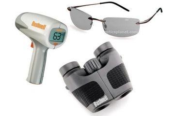3-PC Bushnell Sports Fan Gift Package - Bushnell 8x24 Waterproof Binoculars 134280C, Bushnell Velocity Radar Gun, Bolle Meltdown Sunglasses