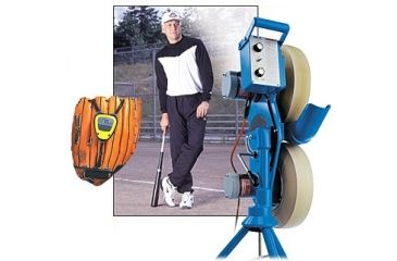 2-PC Perfect Pitch Baseball Fan Gift Package - JUGS 101 Baseball Pitching Machine M1010, Laser Sports Sensors Baseball Glove Radar SALE