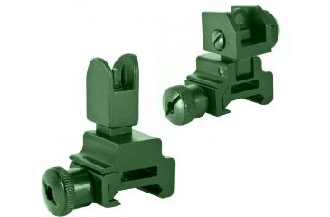 2-Global Military Gear Front and Rear Flip-up Sight Combo for AR15-M4