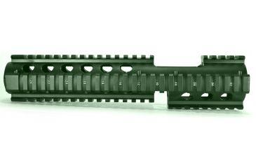 Global Military Gear AR15 Quad Rail w/ Forward Extension-OD Green GM-QRE1-OD