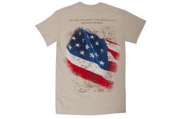 Glock AA49002 2nd Amendment T-Shirt Medium Tan Cotton/Polyester Short Sleeve