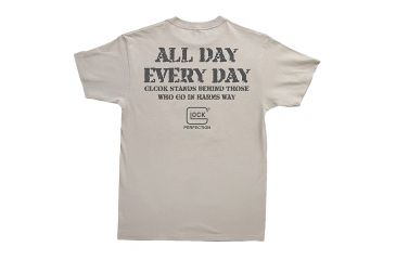 Glock GA10098 Every Day T-Shirt XX-Large Silver Cotton Short Sleeve