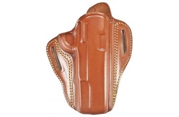 Gould & Goodrich 800-195 Open 2 Slot Holster, Brown, Right Hand - 1911-Style 4.75-5in BBL