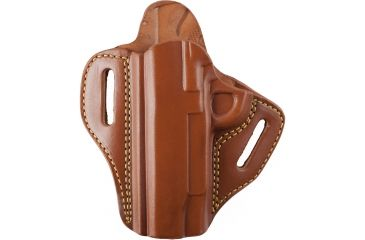 Gould & Goodrich 800-194LH Open Top Two Slot Holster, Chestnut Brown, Left Hand - 1911-type